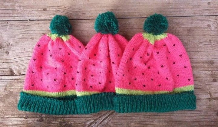 Fruit themed beanie