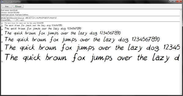 handwriting font on computer